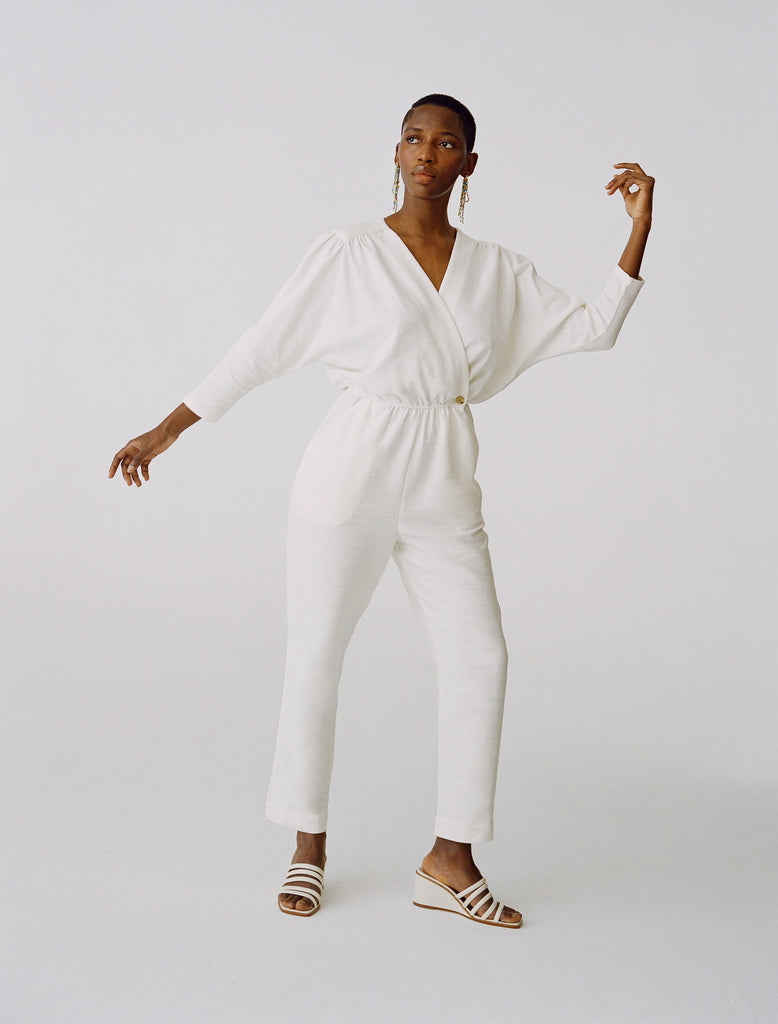 Jumpsuit Alexandria in Off-White