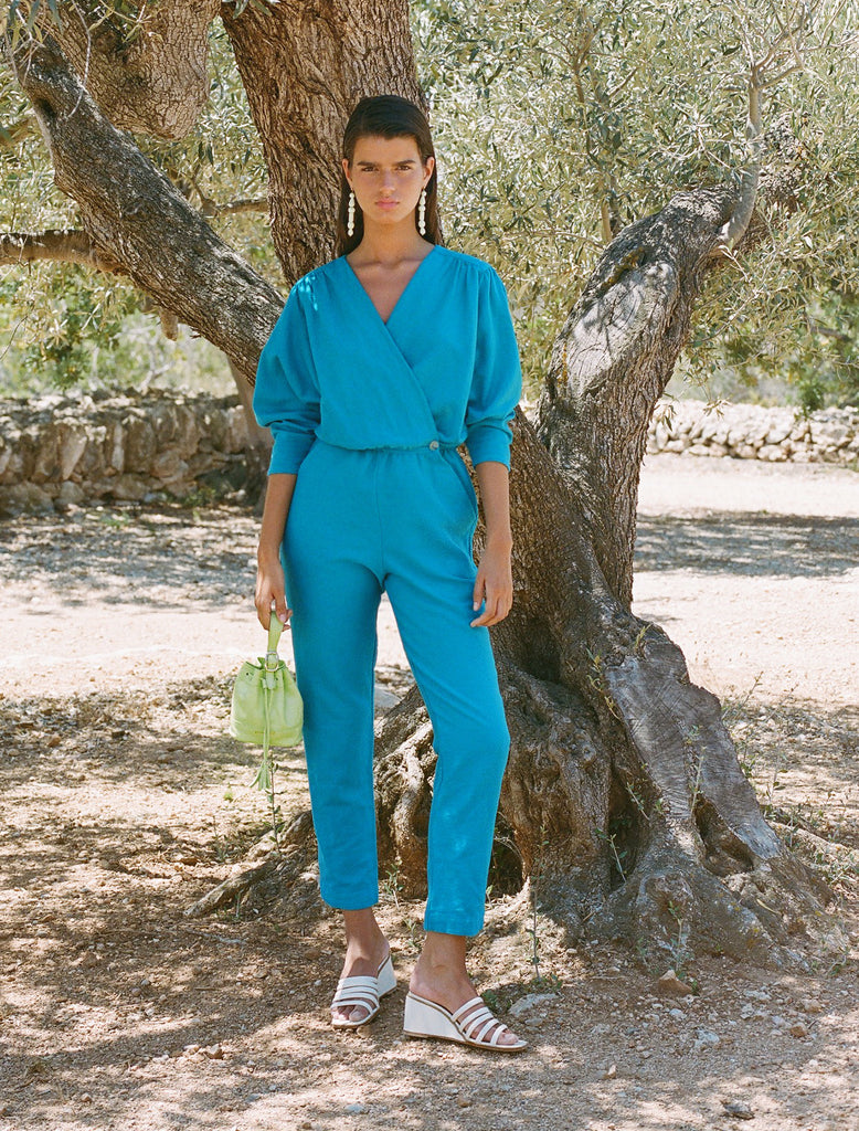 Jumpsuit Alexandria in Cyan