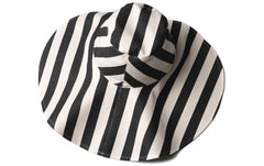 Hat Carolina in Black Stripes  (Kids)