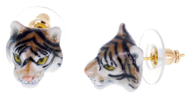 Tiger Mini Head Earrings