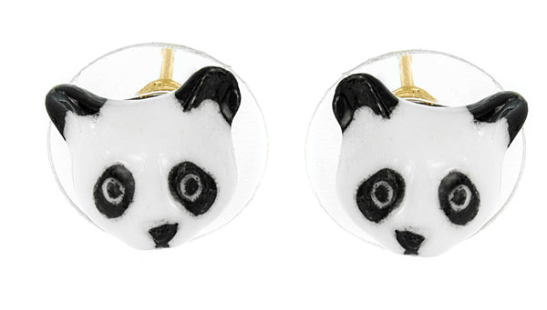 Mini Panda Head Earrings