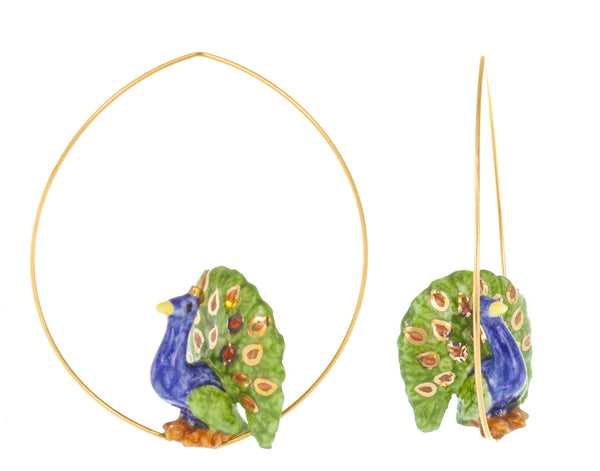 Flying Peacock earrings