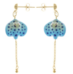 Blue Spotted Ray Earrings