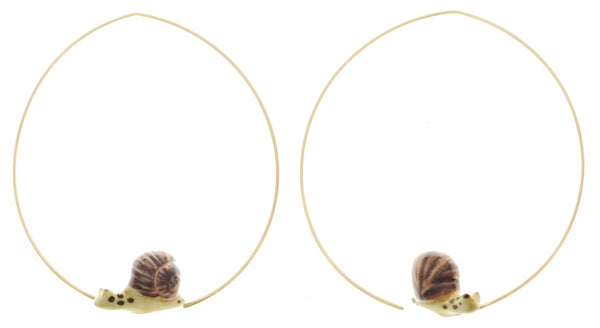 Mini Snail Hoop Earrings