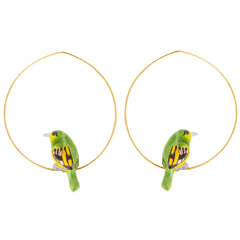 Green Bird Little Bee-eater earrings