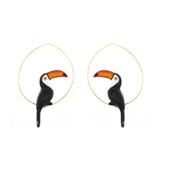 Toucan Hoops Earrings