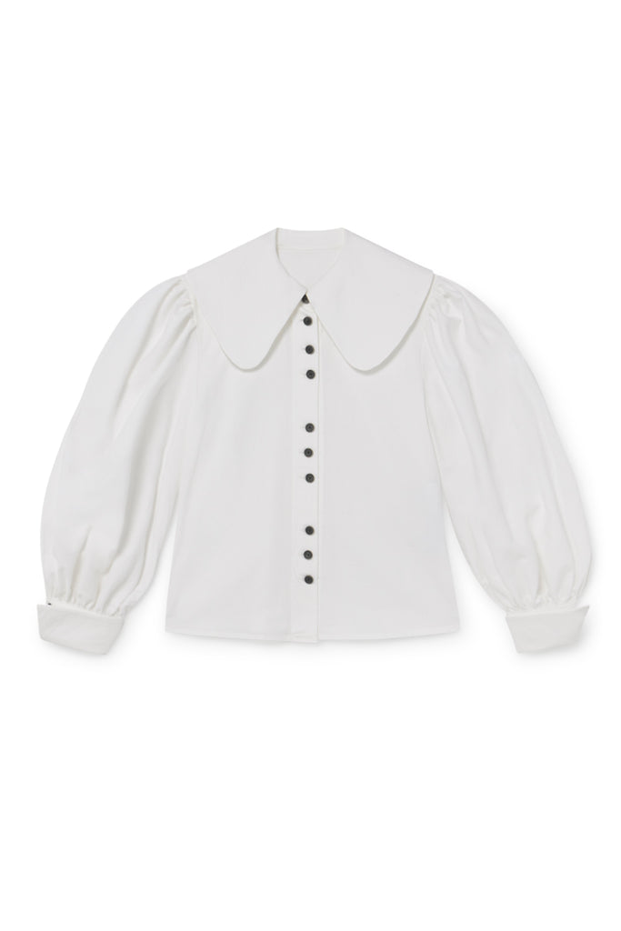 Ode Balloon Blouse in White