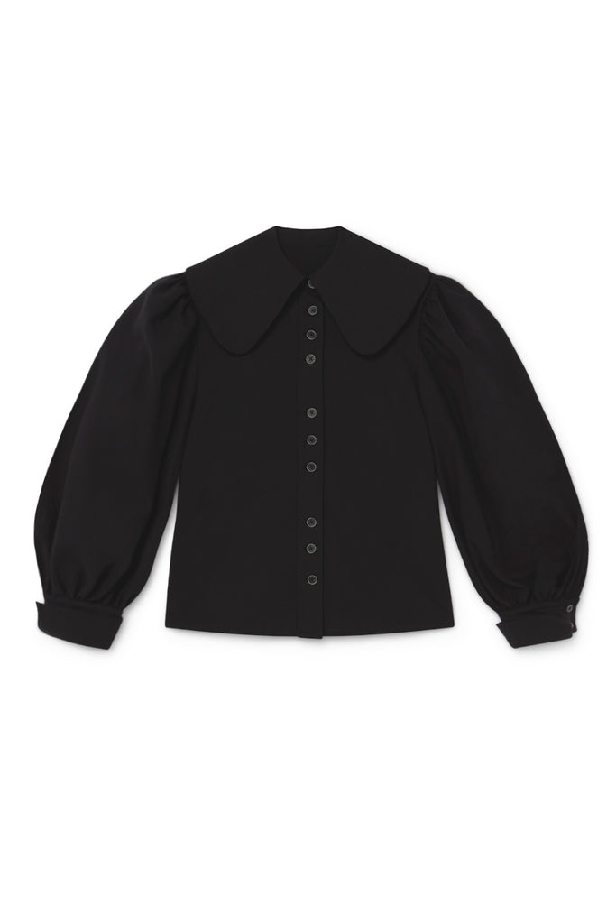 Ode Balloon Blouse in Black