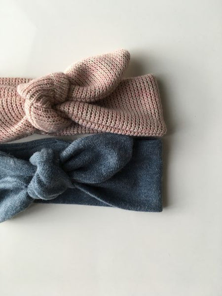Wool in Blue/Grey Baby Girl Headband