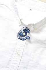 The Great Wave of Kanagawa Embroidery Brooch
