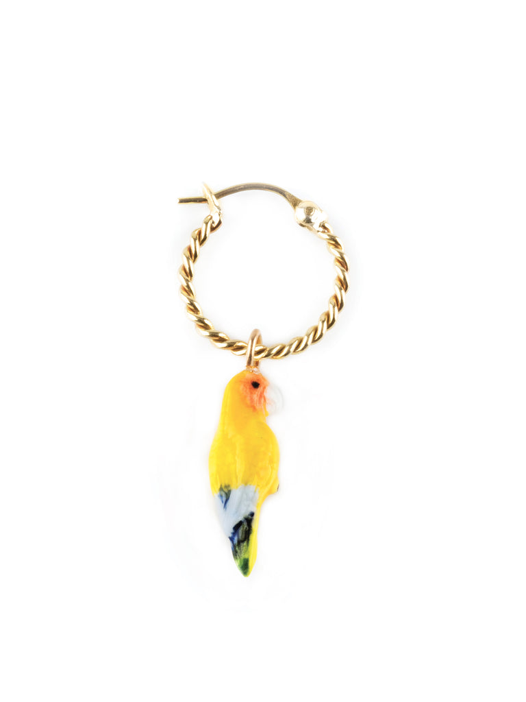 PARROT MINI HOOP SINGLE EARRING