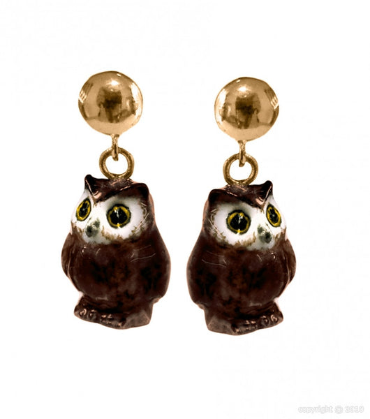 Mini Owl Earrings