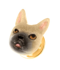 Beige French Bulldog Pin