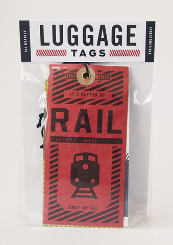 Luggage tags: air, rail, land, sea