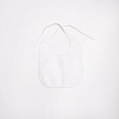 white pleated bib