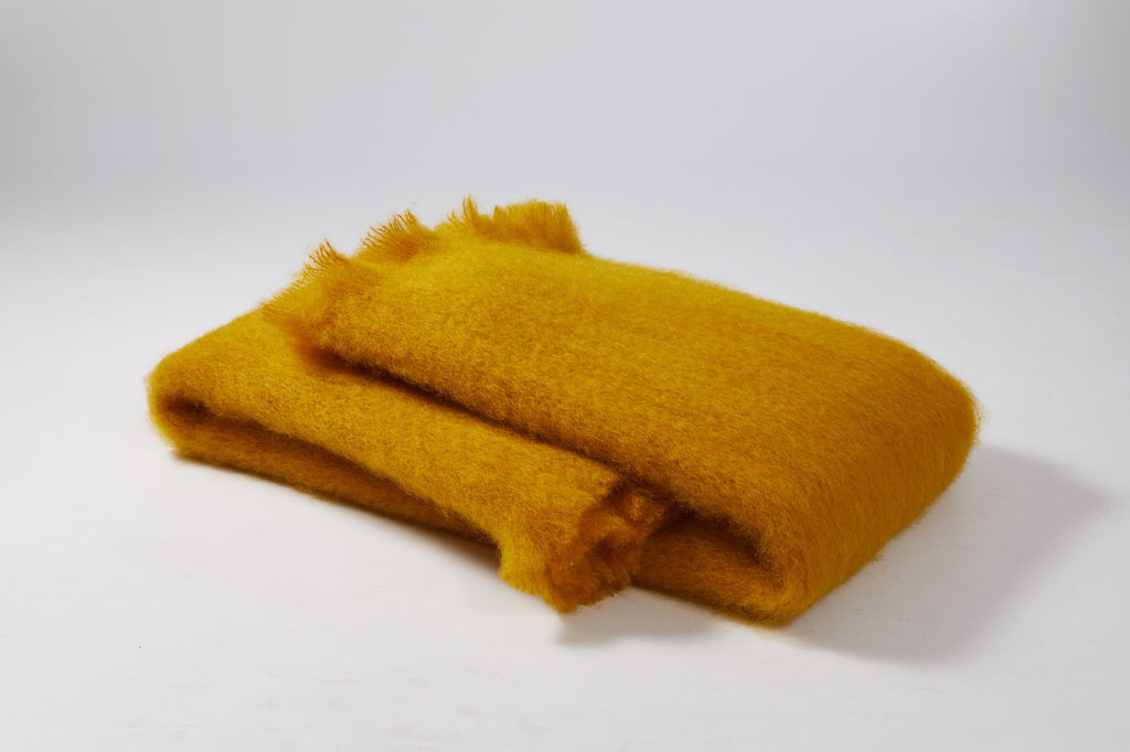Honey yellow Mohair Scarf