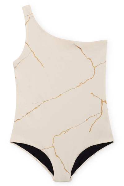 Kintsugi Bathing Suit in Off-White