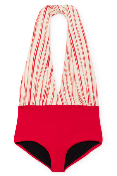 Bamboo Wrap Bathing Suit UPF 50+ in Scarlet