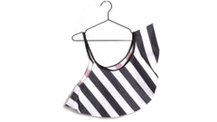 Tulipa Shoulder Scarf in White Stripes (Kids)