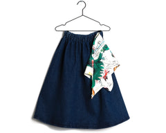 Skirt Lurdes in Blue Denim (Kids)