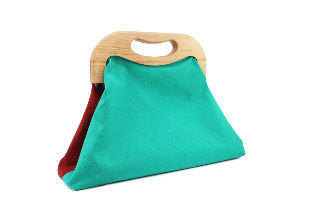 Angolo Bag Canvas Turquoise X Rouille