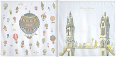 Set of Two Mini Carrés - Hot Air Balloons & Tower's Bridge