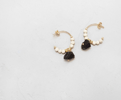 Eole Black Earrings