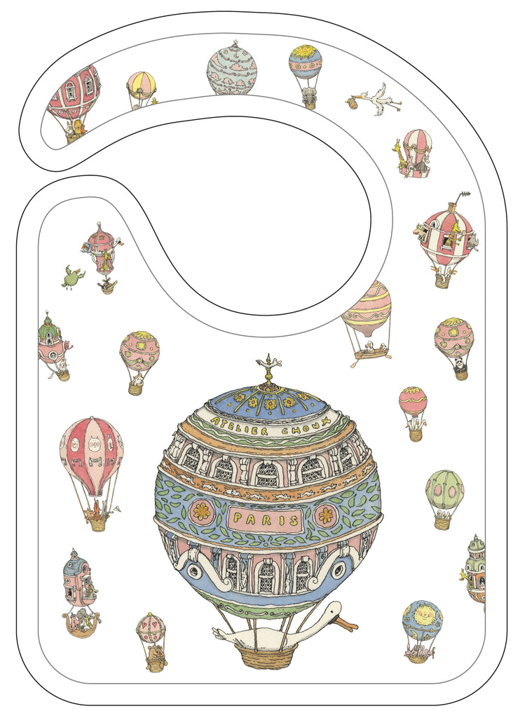 Hot Air Balloons Small Bib