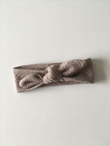Taupe Baby Girl Headband