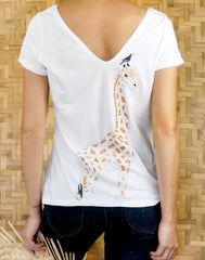 GIRAFE EMBROIDERED TEE-SHIRT