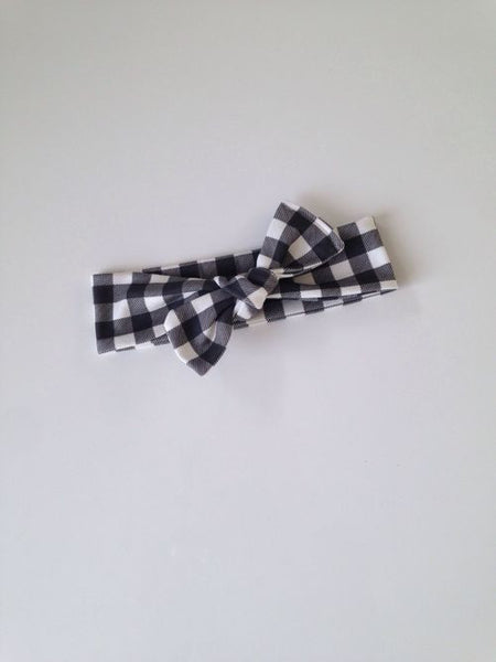 Black & White Vichy Baby Girl Headband
