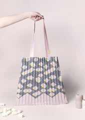 Biscotti pleated tote