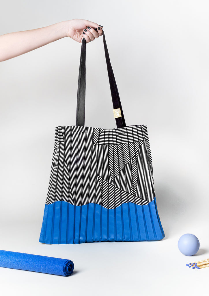 Millerighe pleated tote