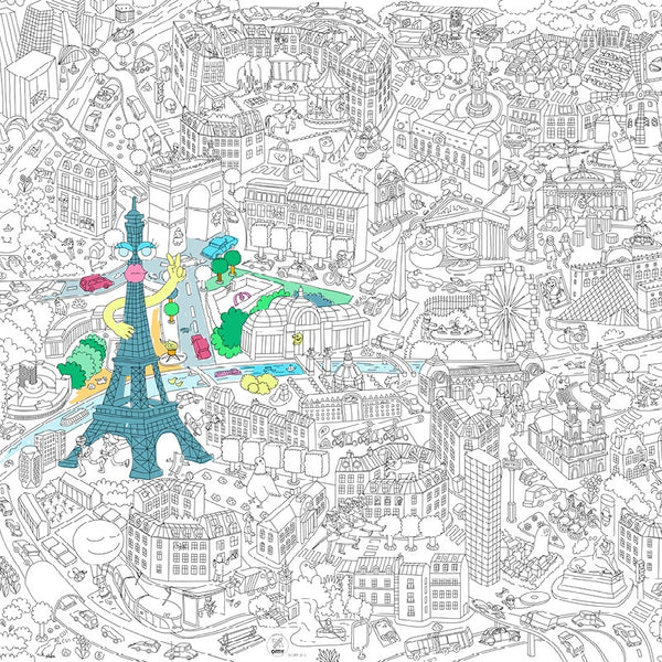LARGE PARIS - Paris citymap giant coloring roll