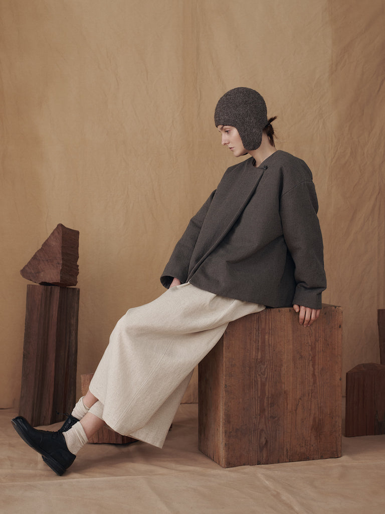 Puff Jacket in Dard Cocoa (Pre-order)