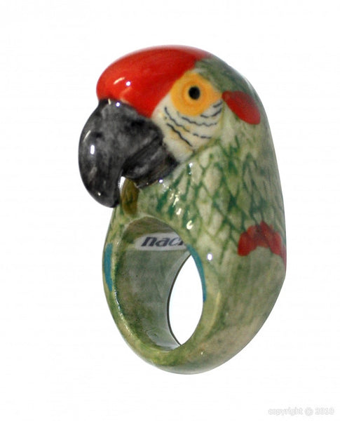 Green Parrot Ring