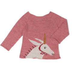UNICORN SWEATER-ROSE/WHITE