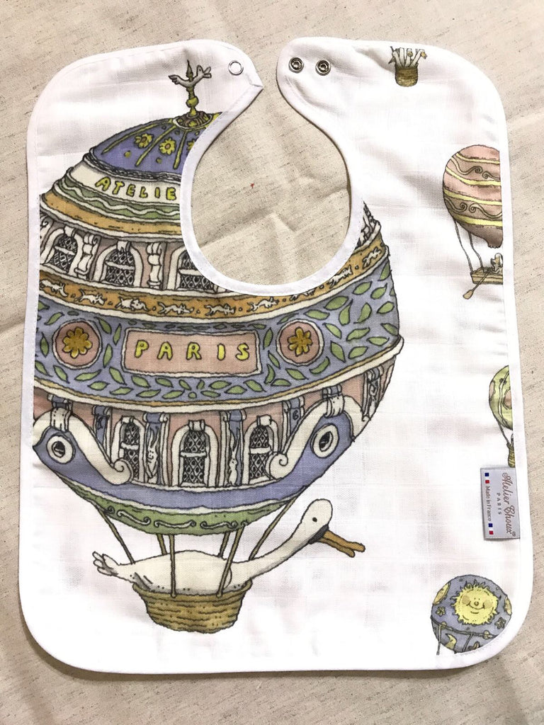 Hot Air Balloons Large Bib
