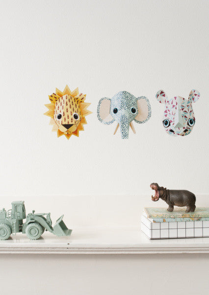 Lion wall sticker cones