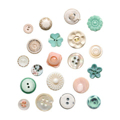 Button wall stickers mixed