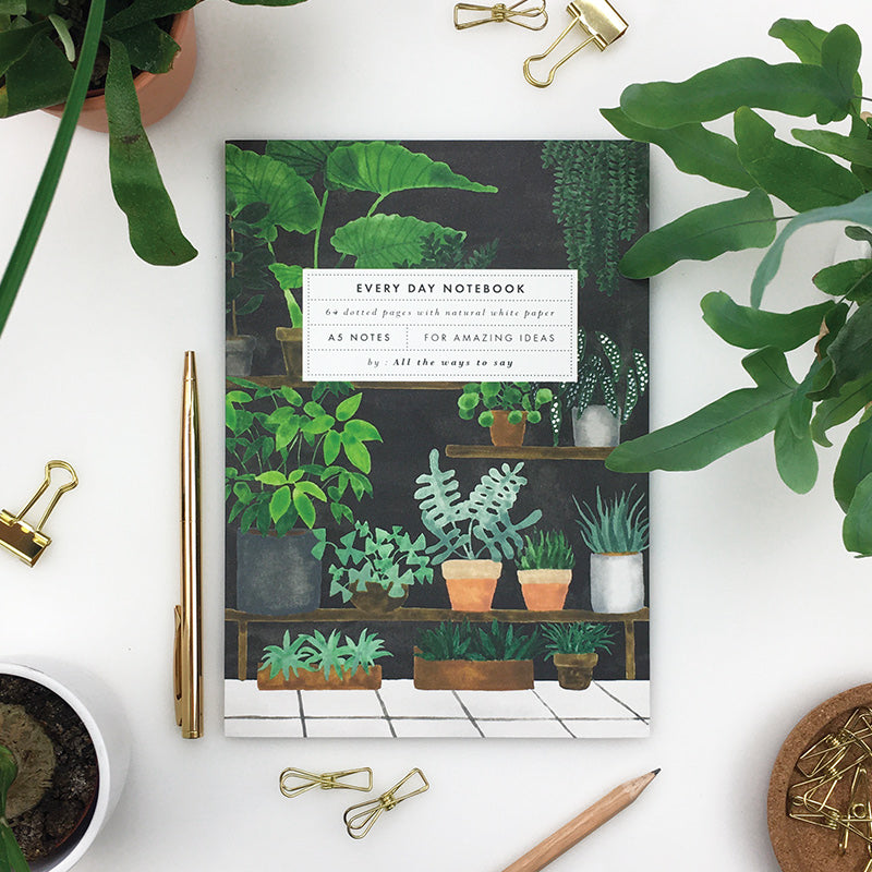 PLANT SHOP A5 NOTEBOOK