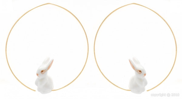 Mini Bunny hoop earrings