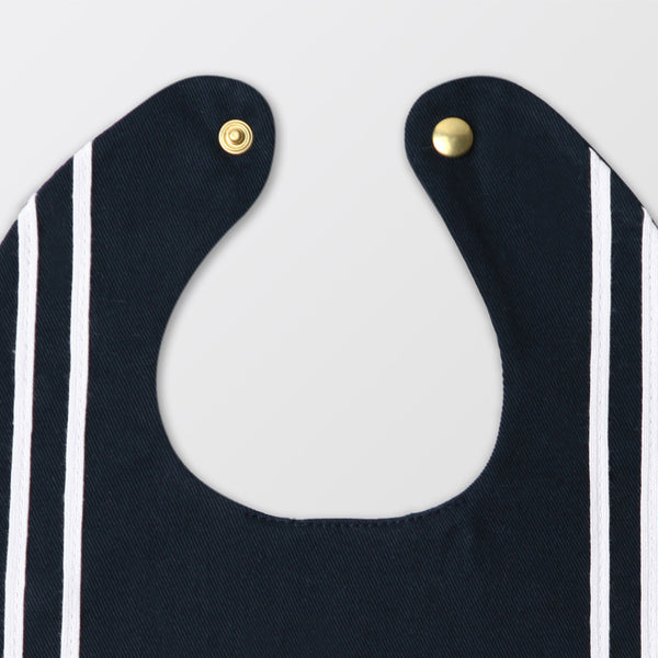 navy blue sailor bib with ribbon
