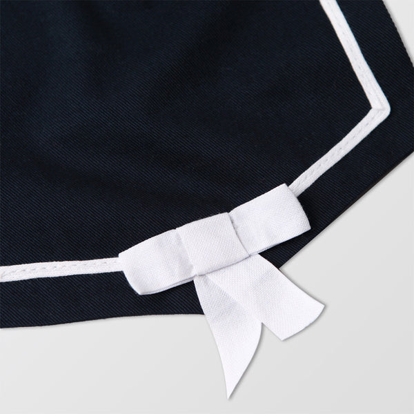 navy blue sailor bib with bow tie