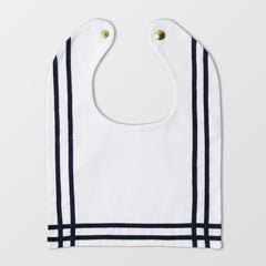 white sailor bib with ribbon