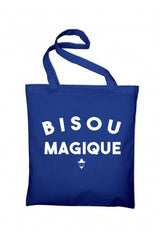 Bisous Magique Tote Bag Royal Blue