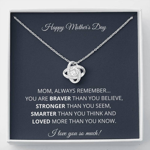 NEW Happy Mother's Day Love Knot Necklace