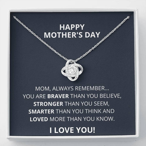 Happy Mother's Day Love Knot Necklace