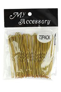 U Shape Bobby Pins in Blonde 72 Pack