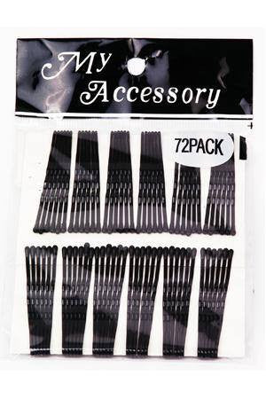 Regular Bobby Pins in Black 72 Pack
